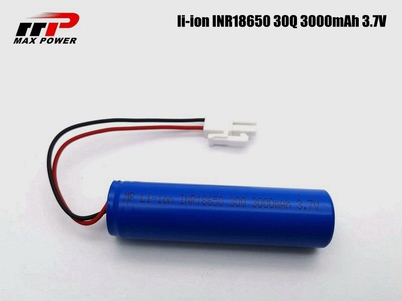 5C Discharge 3000mAh 3.7V 30Q SAM 15A 18650 Li ion Cell